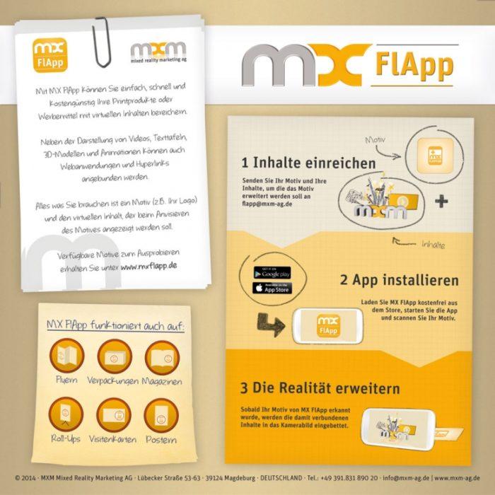 MXFlApp Werbe-Flyer